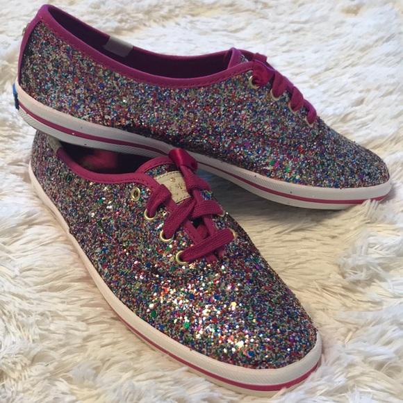 002d652d136e kate spade Shoes | Glitter Keds Size 7 Snapdragon Pink | Poshmark